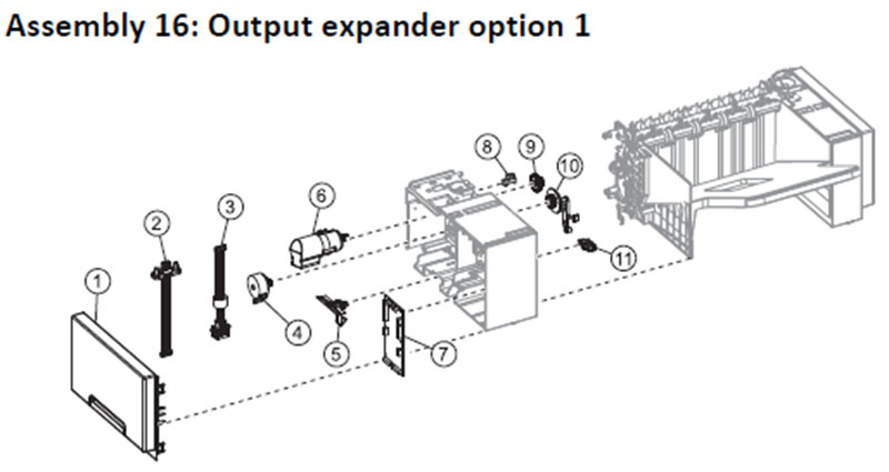 Lexmark MS810 Assembly 16: Output Expander Option 1