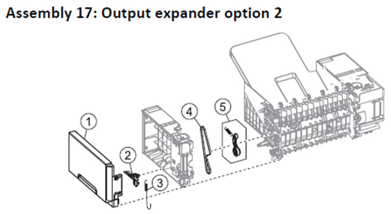 Lexmark MS810 Assembly 17: Output Expander Option 2