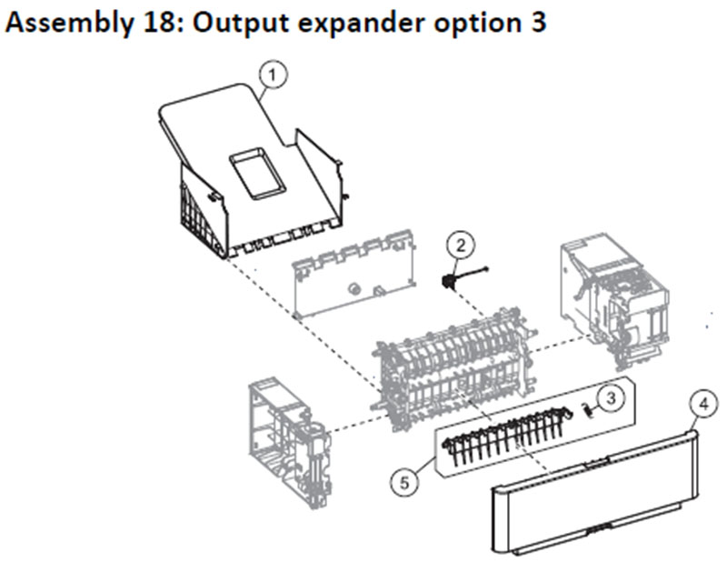 Lexmark MS810 Assembly 18: Output Expander Option 3