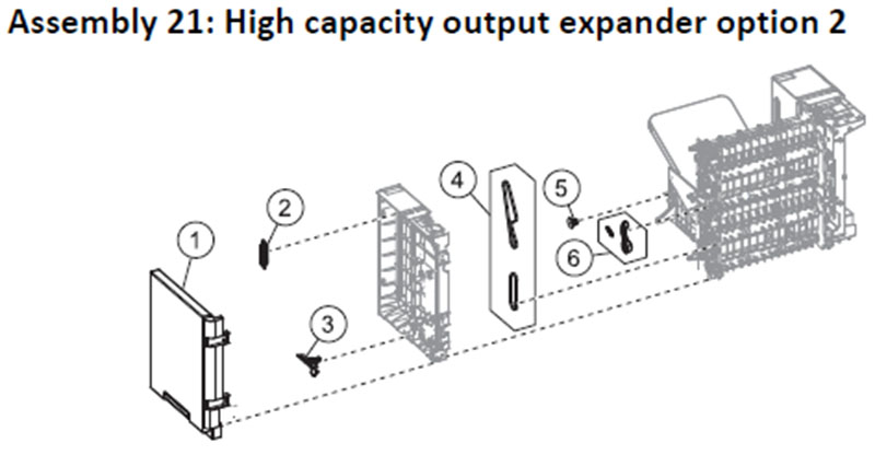 Lexmark MS810 Assembly 21: High Capacity Output Expander Option 2