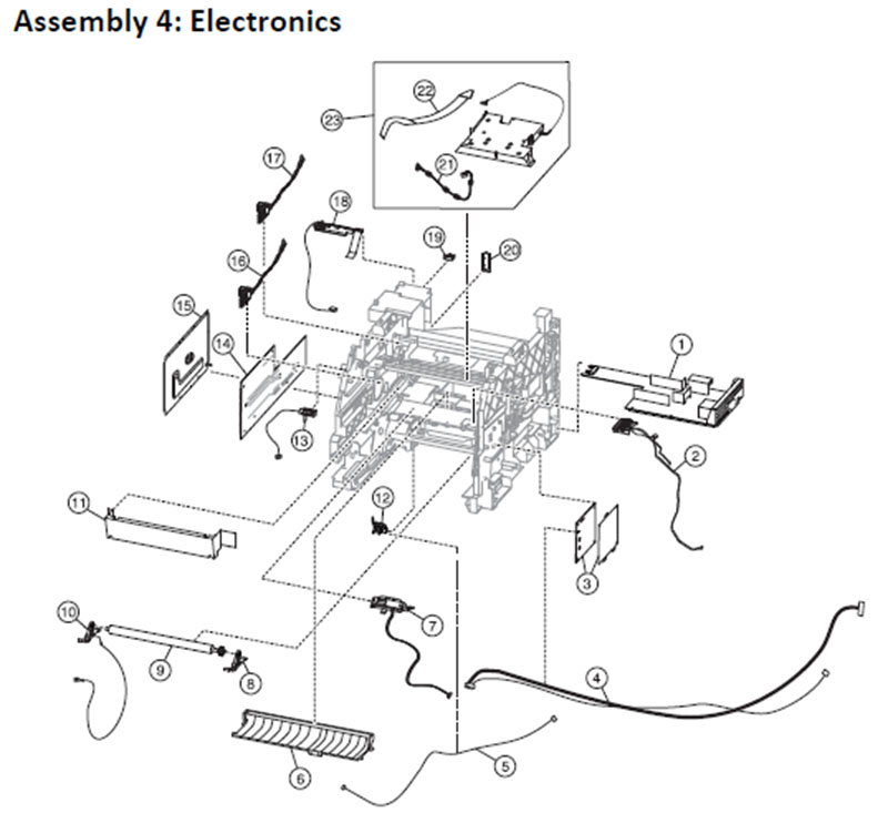 Lexmark MS810 Assembly 4: Electronics