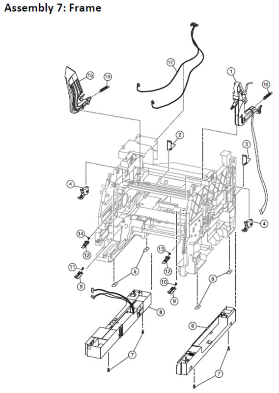 Lexmark MS810 Assembly 7: Frame