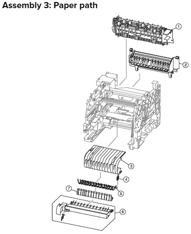 Lexmark MX710, MX810 Assembly 3: Paper Path