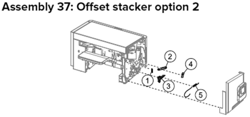 Lexmark MX710, MX810 Assembly 37: Offest Stacker Option 2