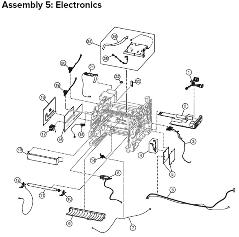 Lexmark MX710, MX810 Assembly 5: Electronics