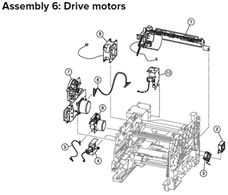 Lexmark MX710, MX810 Assembly 6: Drive Motors